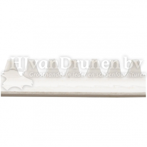 E.V.A. rand 13 - wit met witte stik