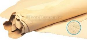 Kalfsvoering G glad en aangeperforeerd - 50 donker beige