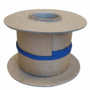 Veters op rol nylon plat - 750 l-blauw