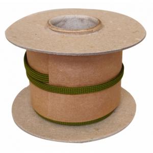 Veters op rol nylon plat - 772 leger-groen