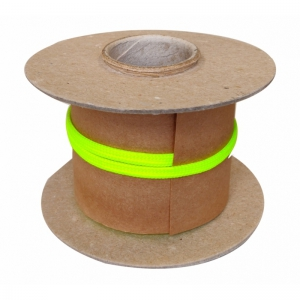 Veters op rol nylon plat - 788 fluorgeel