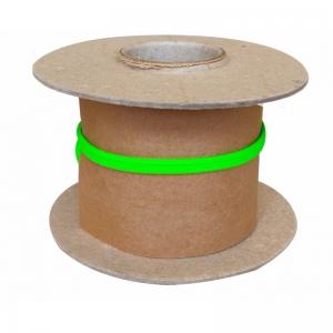 Veters op rol nylon plat - 778 fluorgroen