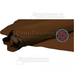 Kalfsvoering Q glad, geperforeerd en aangeperforeerd - 20 donker bruin