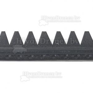 Rubberrand 38 - zwart met zwarte stik